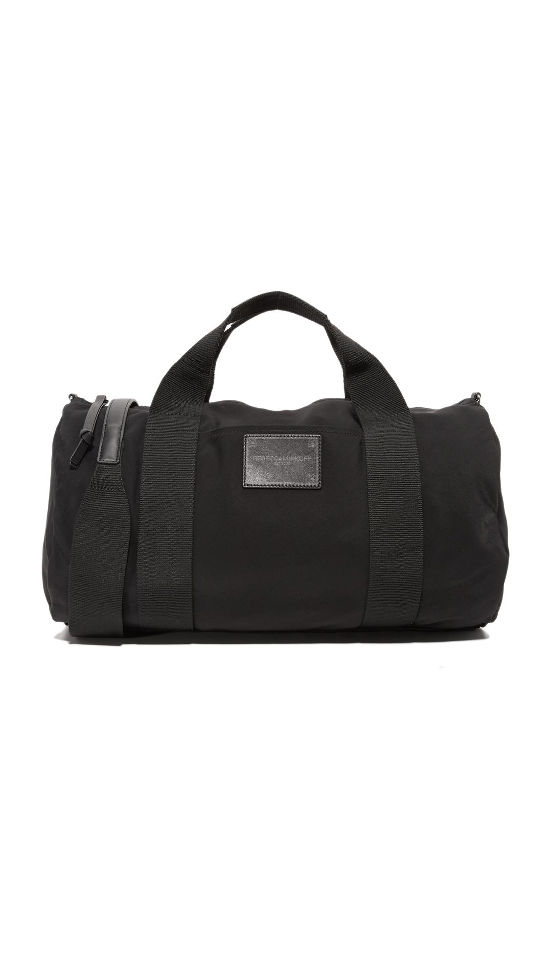 rebecca minkoff female rebecca minkoff nylon duffel bag black