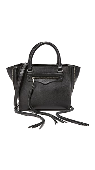 Rebecca Minkoff Side Zip Mini Regan Tote - Black