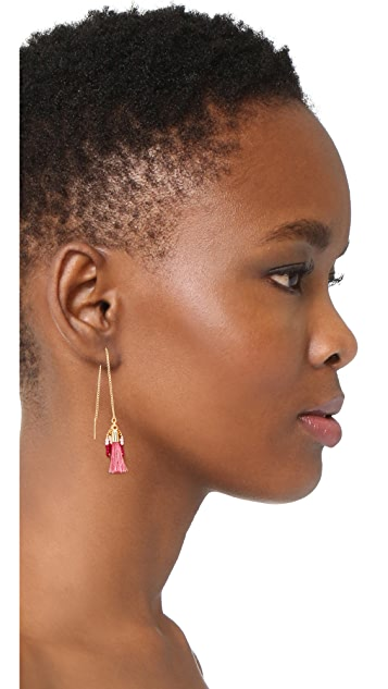 Rebecca Minkoff Threader Earrings with Tassels