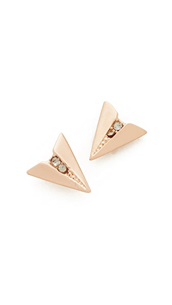 Rebecca Minkoff Paper Plane Stud Earrings