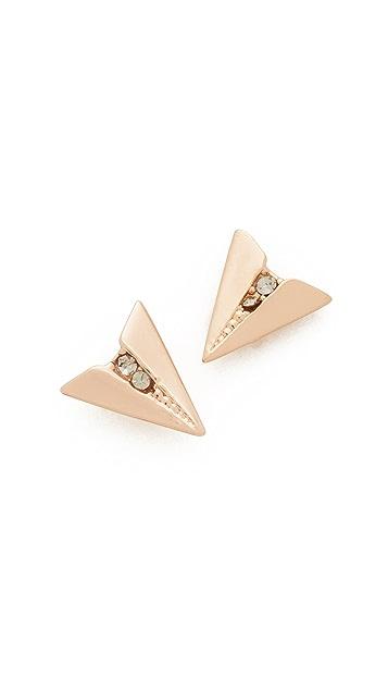 Rebecca Minkoff Paper Plane Stud Earrings