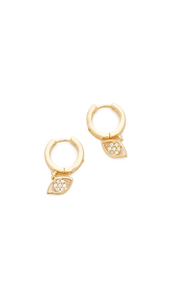 Rebecca Minkoff Evil Eye Huggie Earrings