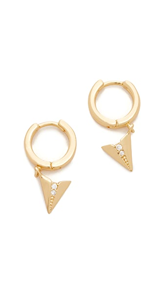 Rebecca Minkoff Paper Plane Huggie Earrings