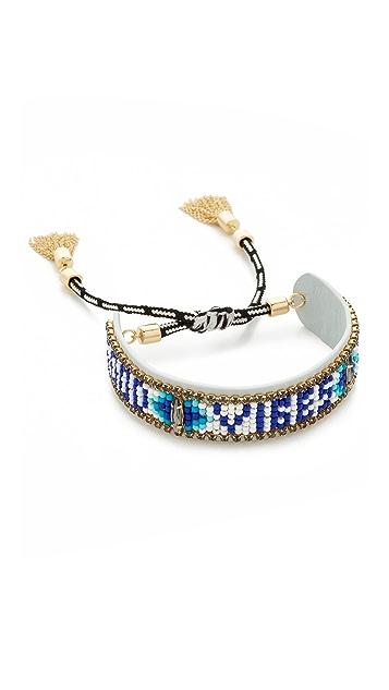 Rebecca Minkoff Good Vibes Only Friendship Bracelet