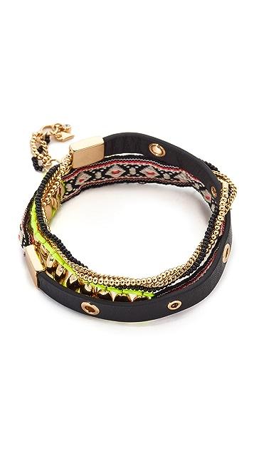 Rebecca Minkoff Mixed Media Wrap Bracelet
