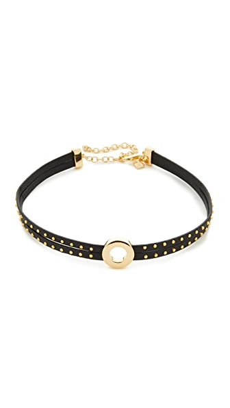 Rebecca Minkoff Leather Studded Choker Necklace