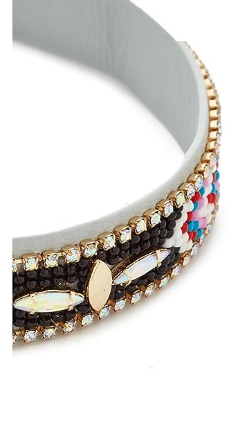 Rebecca Minkoff Sparkler Seed Bead Choker Necklace