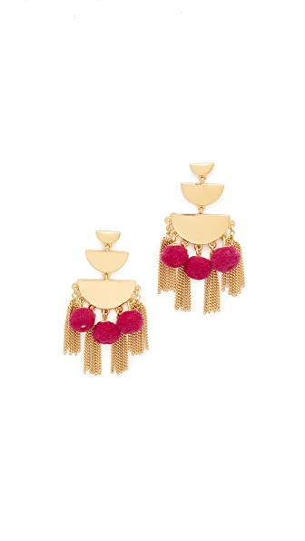 Rebecca Minkoff Triple Tier Chandelier Earrings - Gold/Pink