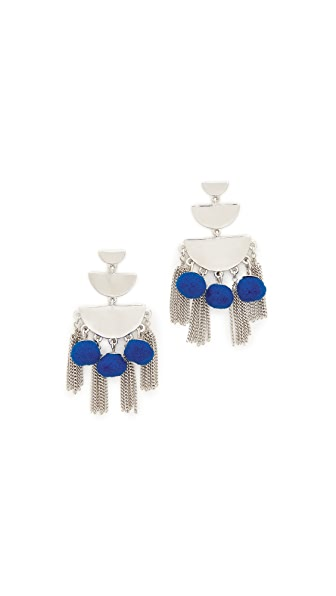 Rebecca Minkoff Triple Tier Chandelier Earrings - Silver/Blue