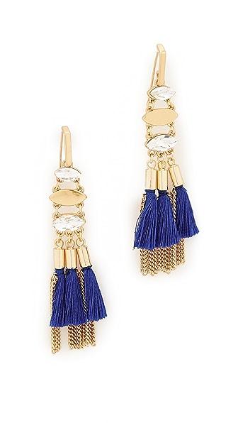 Rebecca Minkoff Tassel and Fringe Chandelier Earrings