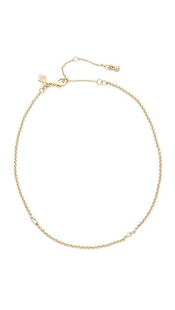 Rebecca Minkoff Baguette Stone Chain Choker Necklace