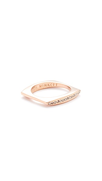 Rebecca Minkoff Pave Square Stacking Ring