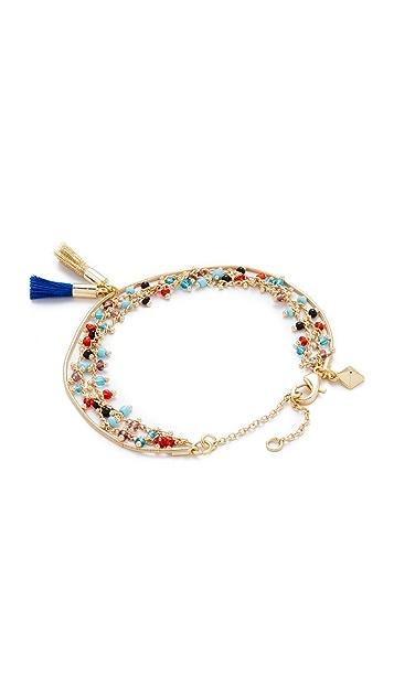 Rebecca Minkoff Beaded Tri Layer Bracelet