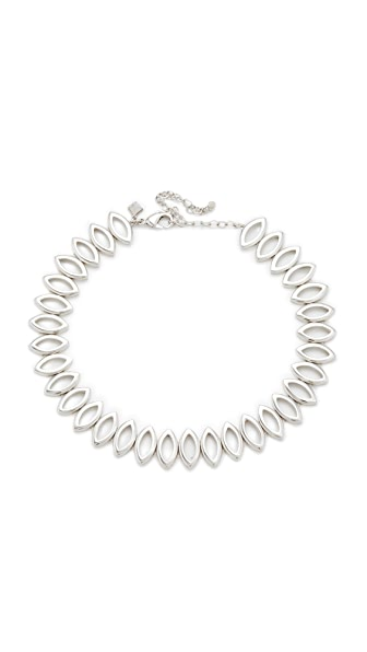 Rebecca Minkoff Navette Metal Choker Necklace - Silver