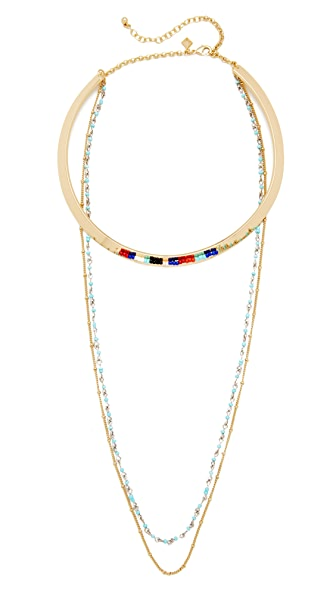 Rebecca Minkoff Louisa Layered Collar Necklace - Gold/Multi