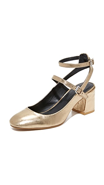 Rebecca Minkoff Brooke Mary Jane Pumps - Gold