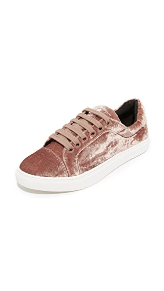 Rebecca Minkoff Bleecker Too Velvet Sneakers - Berry Smoothie