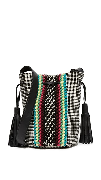 Rebecca Minkoff Alhombra Bucket Bag - Black Multi
