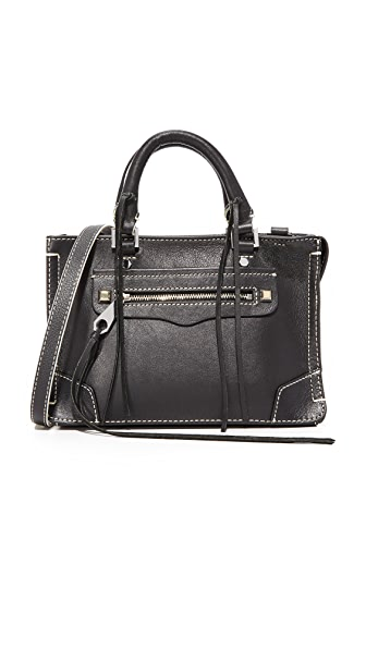 Rebecca Minkoff Micro Regan Satchel - Black/White