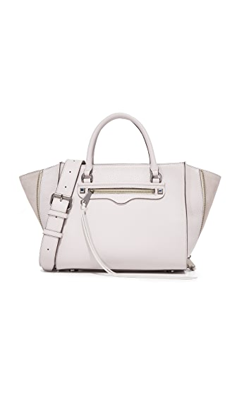 Rebecca Minkoff Side Zip Medium Regan Satchel - Putty