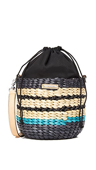 Rebecca Minkoff Mini Basket Cross Body Bag - Blue Multi