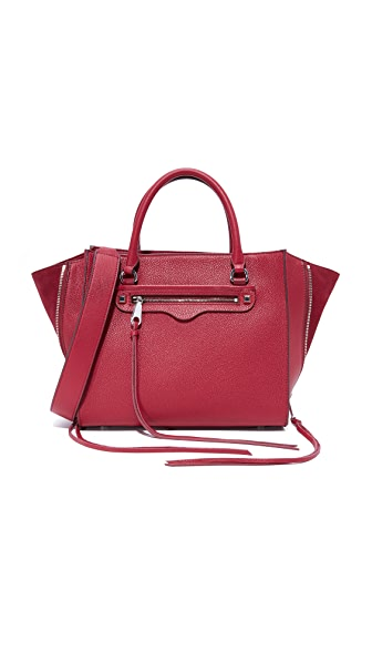 Rebecca Minkoff Side Zip Medium Regan Satchel - Beet