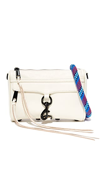 Rebecca Minkoff Mini MAC Cross Body Bag - Antique White