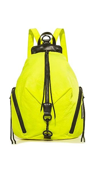 Rebecca Minkoff Nylon Julian Backpack - Neon Yellow