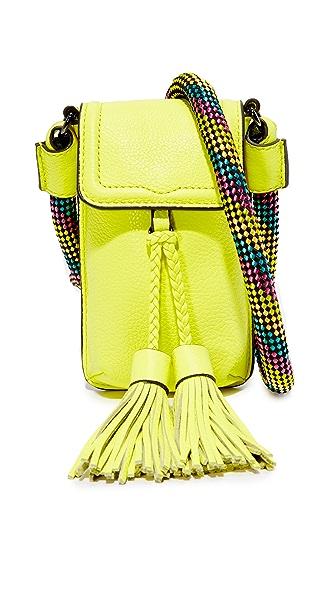 Rebecca Minkoff Isobel Phone Cross Body Bag - Neon Yellow