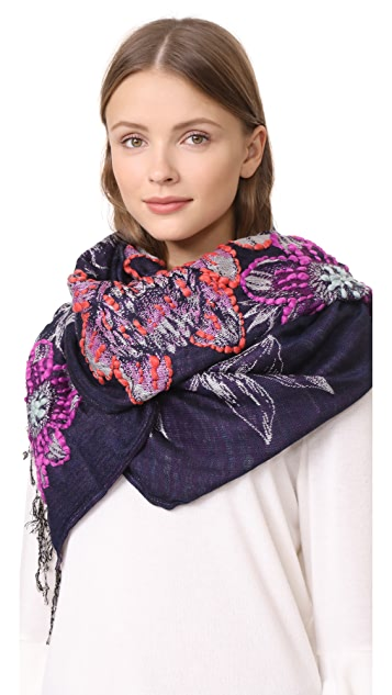 Rebecca Minkoff Pencil Floral Oblong Scarf