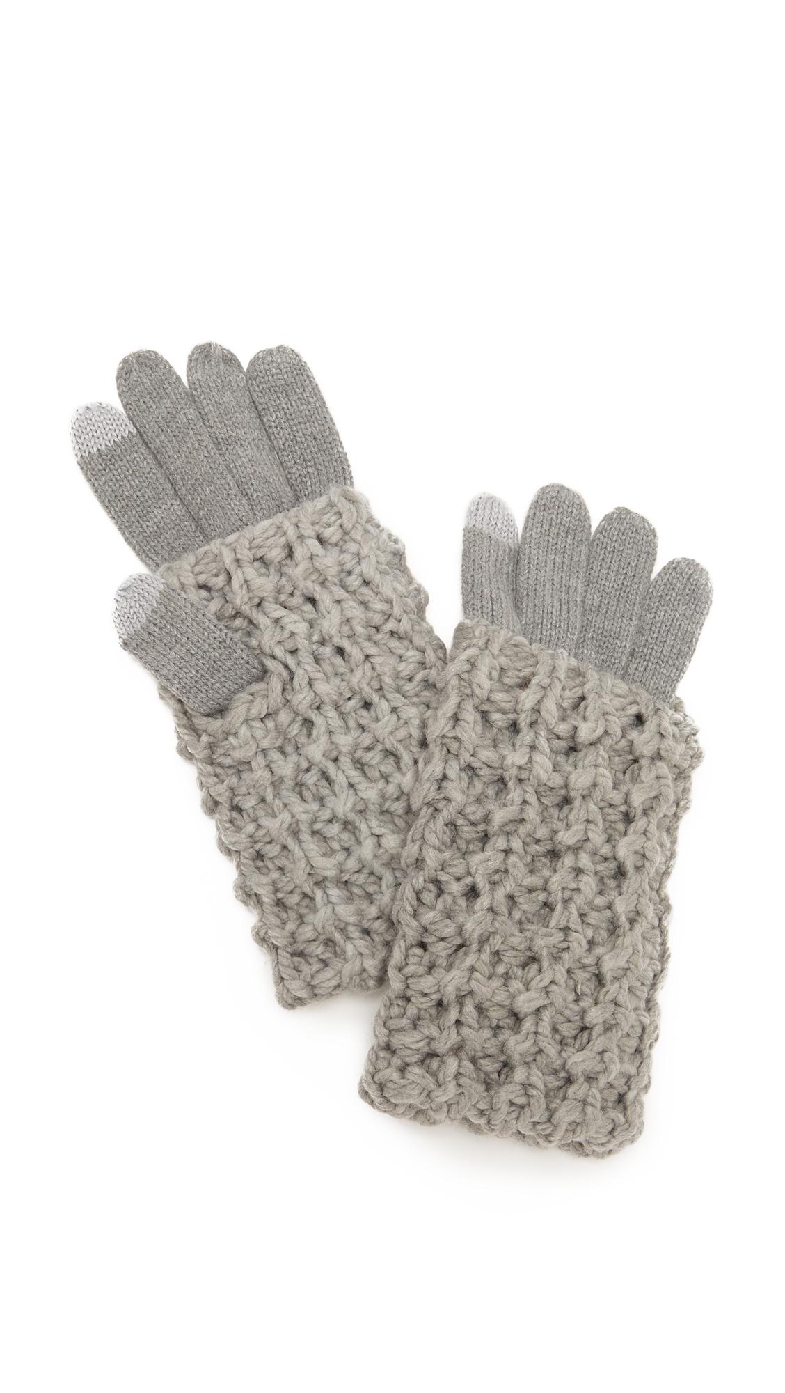 Rebecca Minkoff Chunky Tuck Gloves - Heather Grey