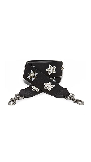 Rebecca Minkoff Crystal Star Studded Guitar Strap
