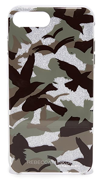 Rebecca Minkoff Camo Bird iPhone 7 Plus Case - Green