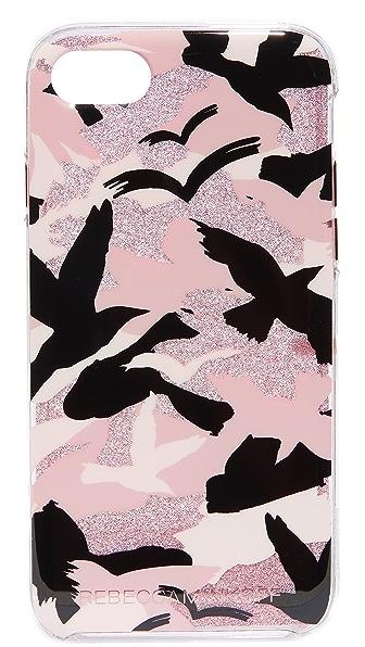 Rebecca Minkoff Camo Bird iPhone 7 Case In Peach