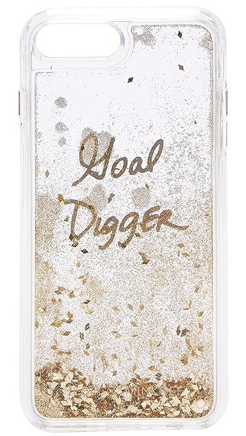 Rebecca Minkoff Goal Digger Glitterfall iPhone 7 Plus Case