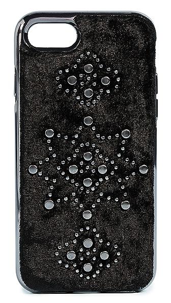 Rebecca Minkoff Velvet iPhone 7 Case In Black