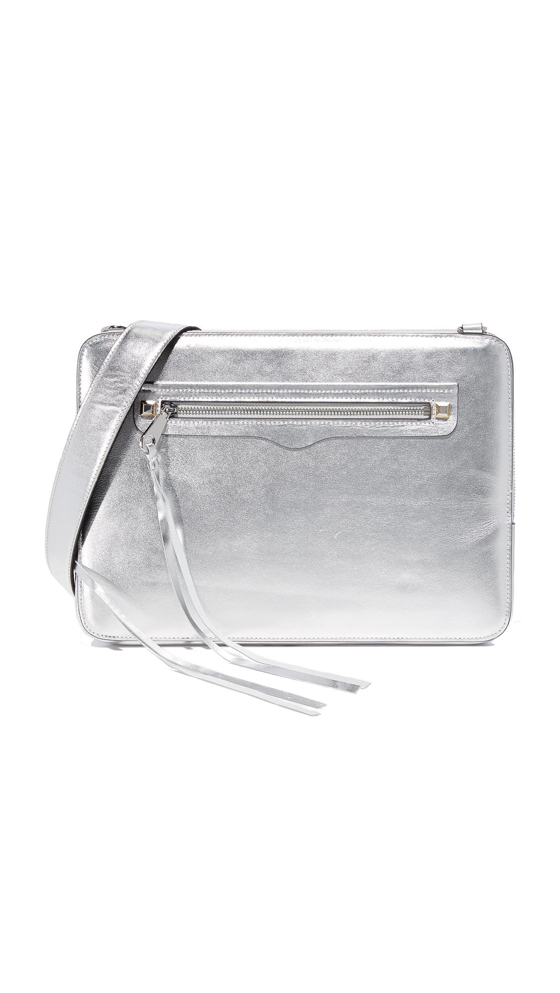 Rebecca Minkoff Regan Sleeve Laptop Case - Metallic Silver