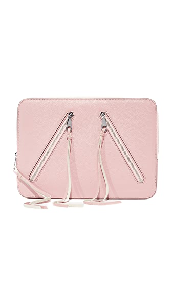 Rebecca Minkoff Moto Zip Sleeve Laptop Case - Vintage Pink