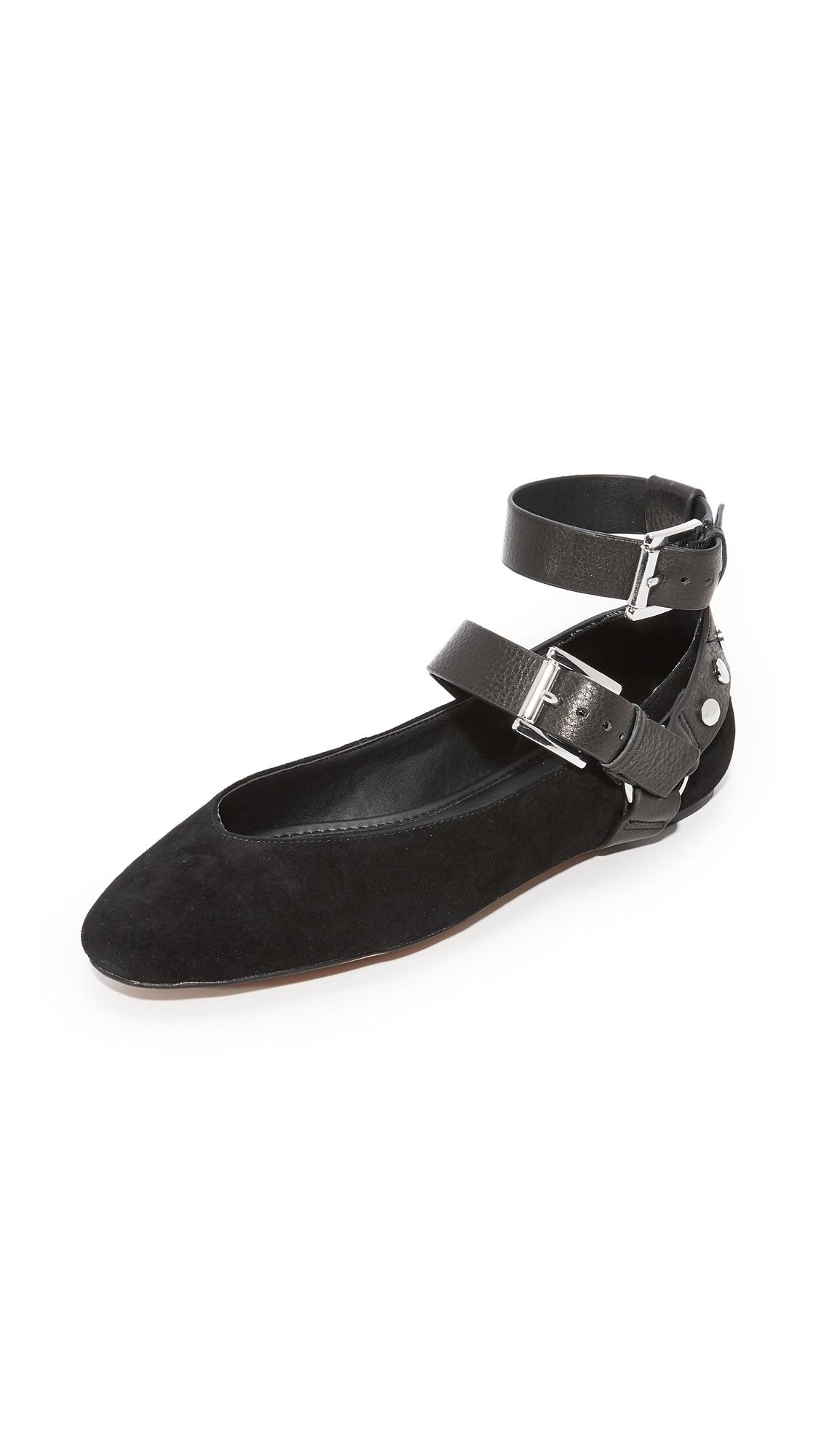 Rebecca Minkoff Vivica Harness Ballet Flats - Black