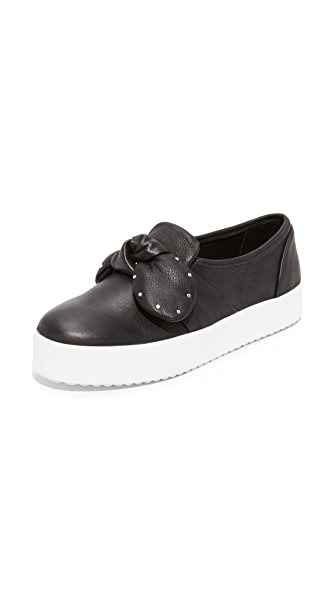 Rebecca Minkoff Stacey Stud Bow Sneakers - Black