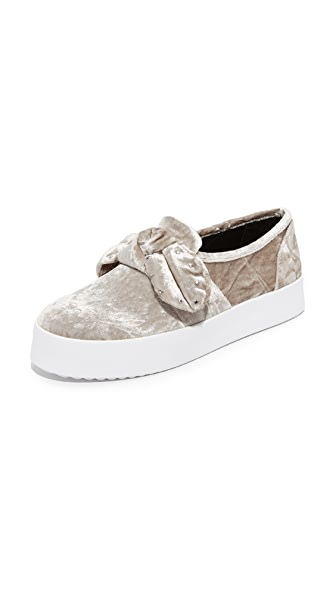 Rebecca Minkoff Stacey Stud Bow Sneakers In Putty