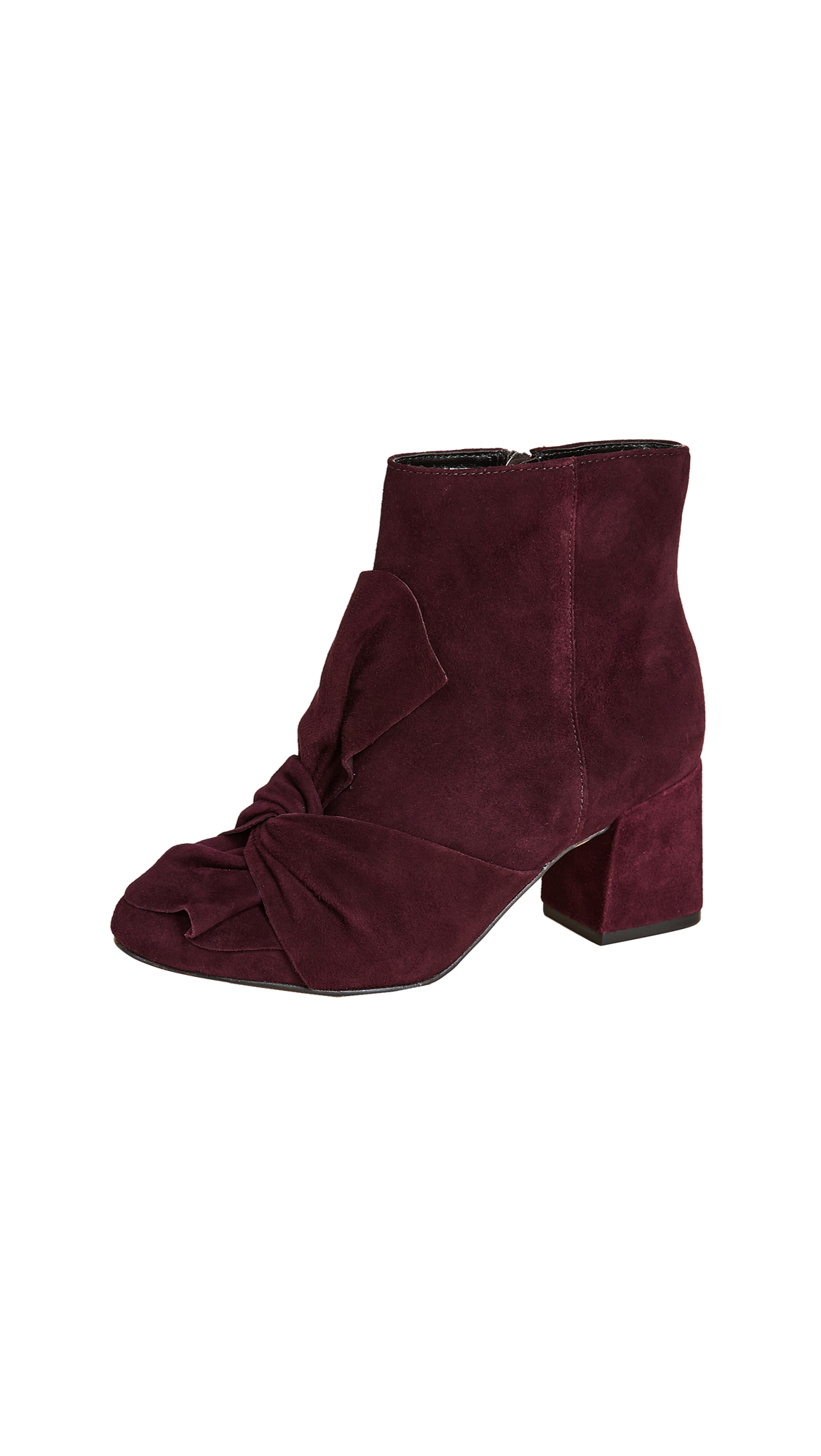 Rebecca Minkoff Lara Bow Booties - Dark Cherry