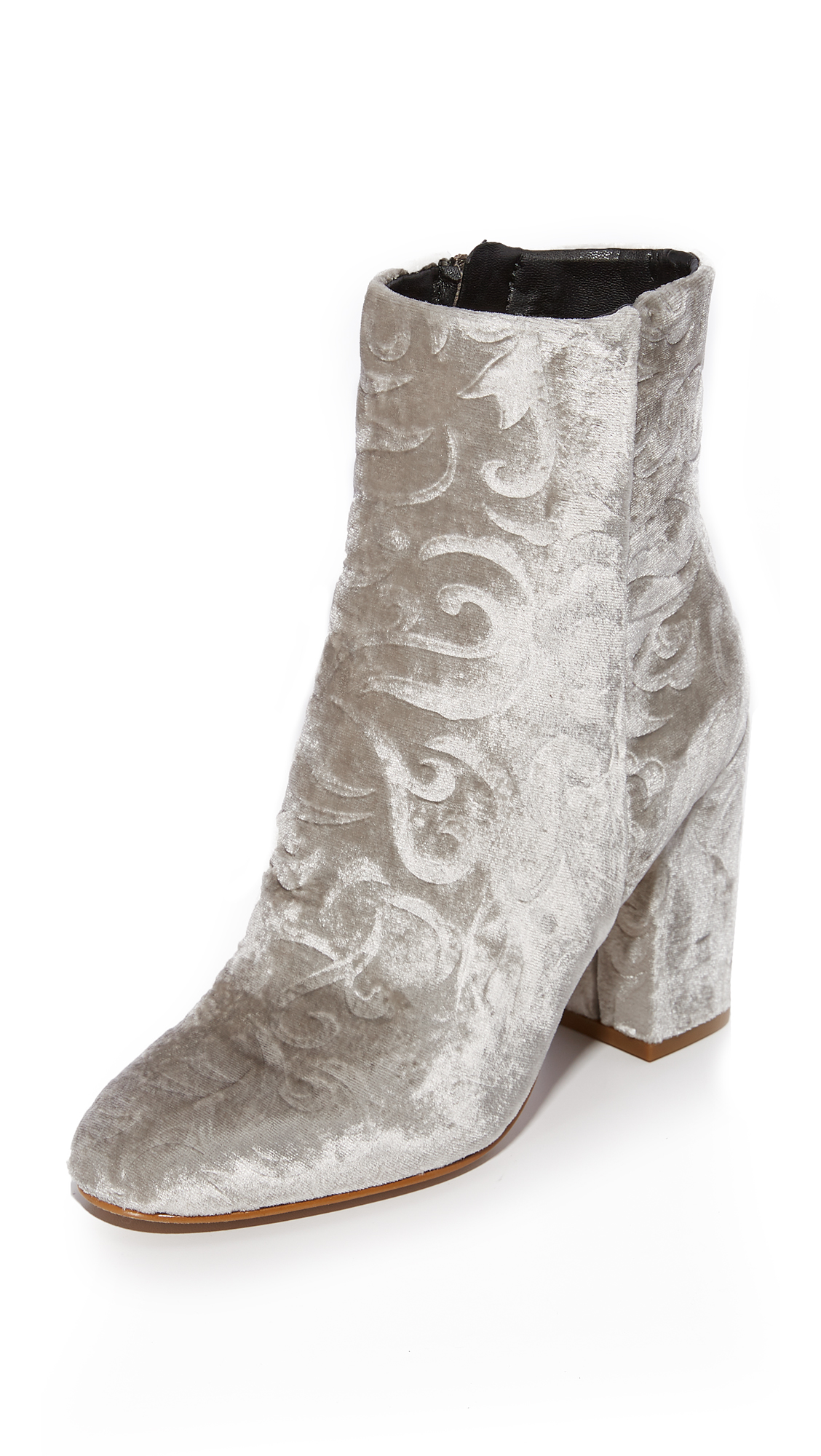 Rebecca Minkoff Bryce Embossed Booties - Sand