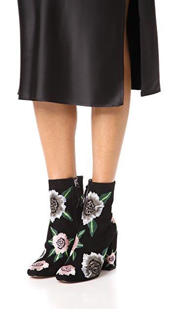 Rebecca Minkoff Bryce Embroidered Booties