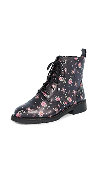 Rebecca Minkoff Gerry Floral Combat Boots In Ditsy Print