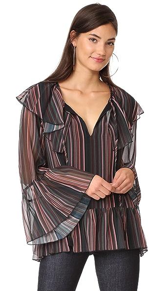 Rebecca Minkoff Patti Top - Multi Stripe Print