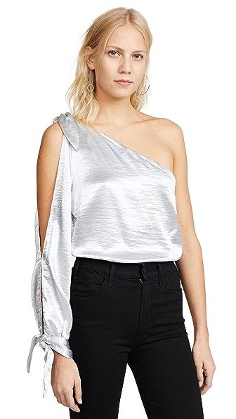 Rebecca Minkoff Nash Top In Silver