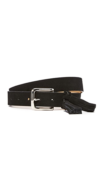 Rebecca Minkoff Angie Tassels Belt In Black