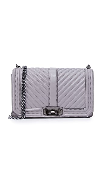 Rebecca Minkoff Chevron Love Cross Body Bag - Grey