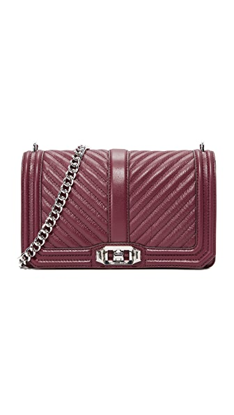 Rebecca Minkoff Chevron Quilted Love Cross Body Bag - Acai
